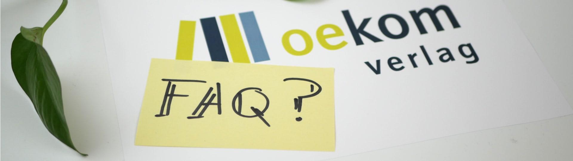 Post-it Zettel mit Aufschrift »FAQ?«