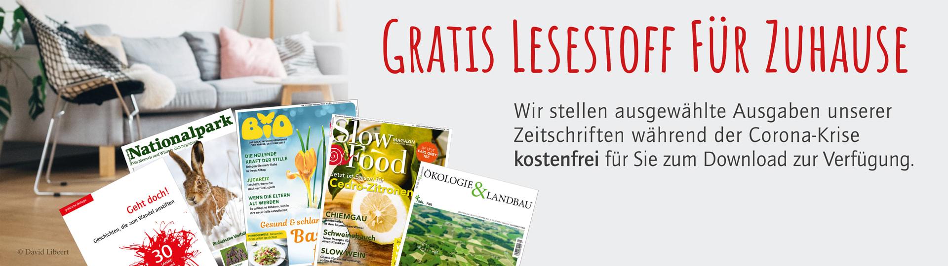 Kostenfreier Download ausgewählter Zeitschriften während der Corona-Krise