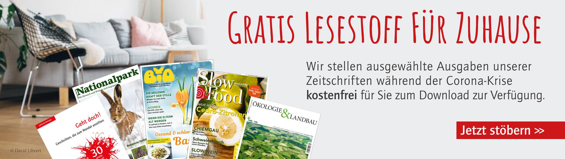 Kostenlose Leseproben der oekom-Zeitschriften in der Corona-Krise