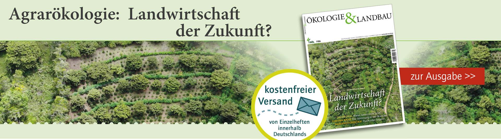 Moodbar zu der Ausgabe 3/2020 der Zeitschrift Ökologie & Landbau zum Thema Agrarökologie