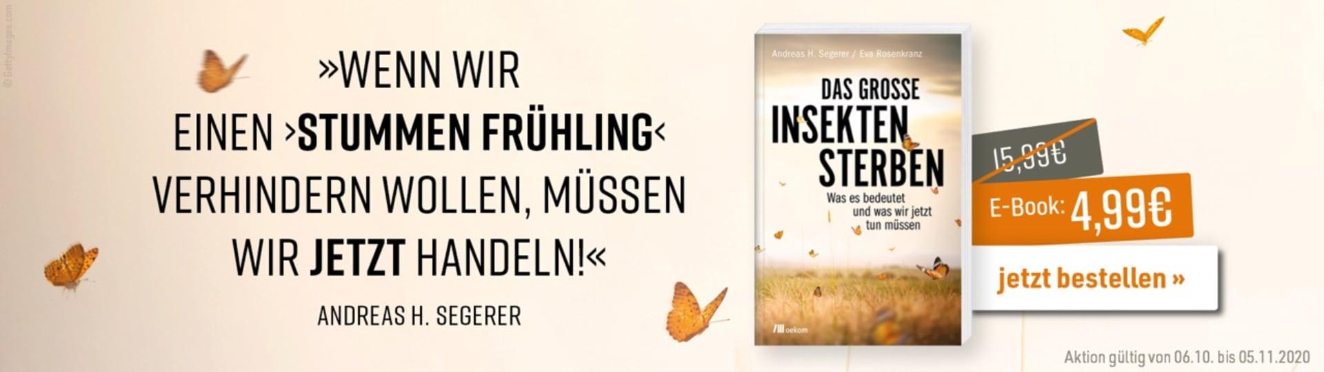 Werbebanner zur E-Book-Aktion zum Buch »Das große Insektensterben«