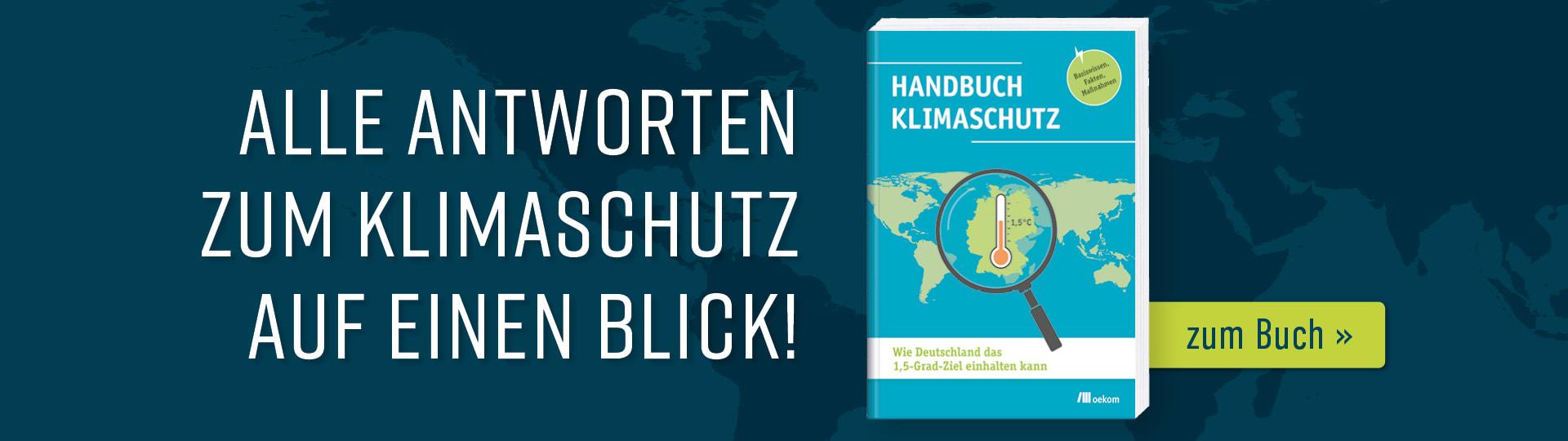 Werbebanner zum Buch »Handbuch Klimaschutz«