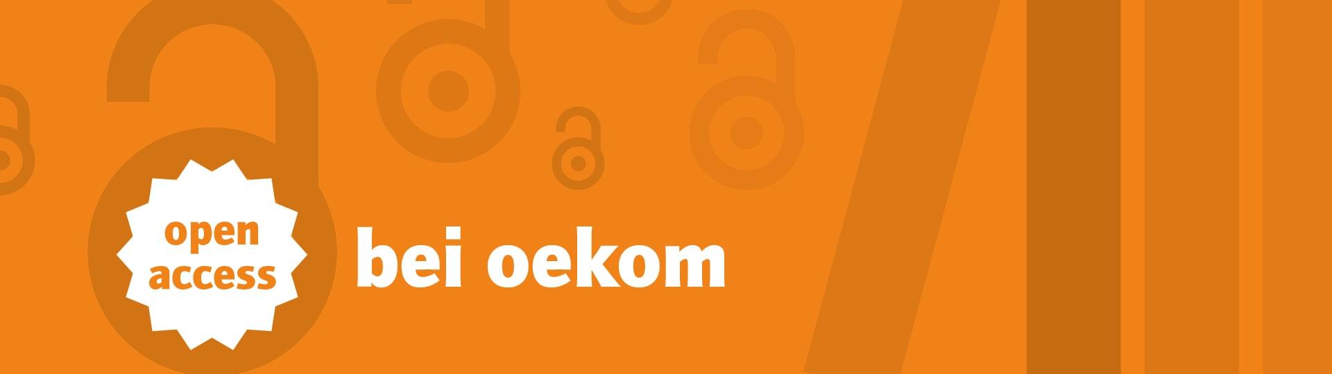 Werbebanner zu Open Access bei oekom
