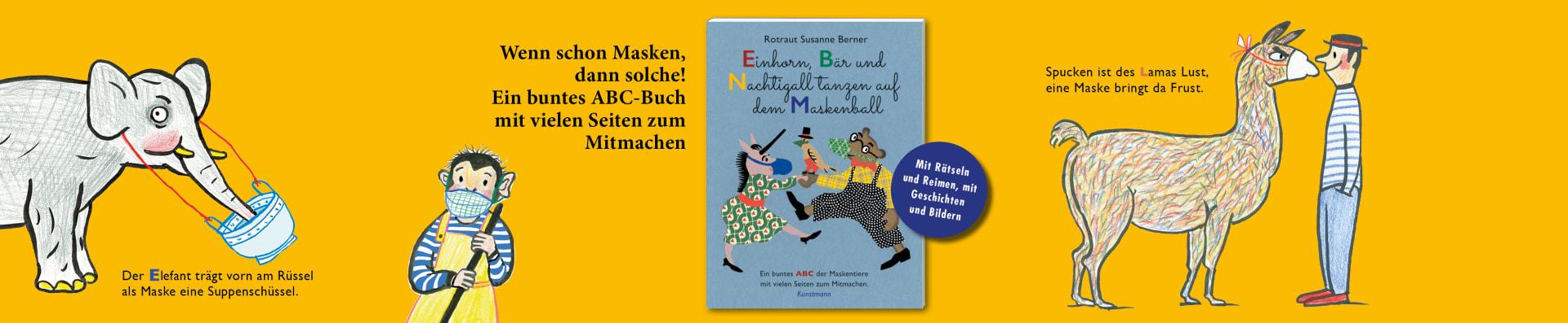 Rotraut Susanne Berner – Einhorn, Bär und Nachtigall tanzen auf dem Maskenball
