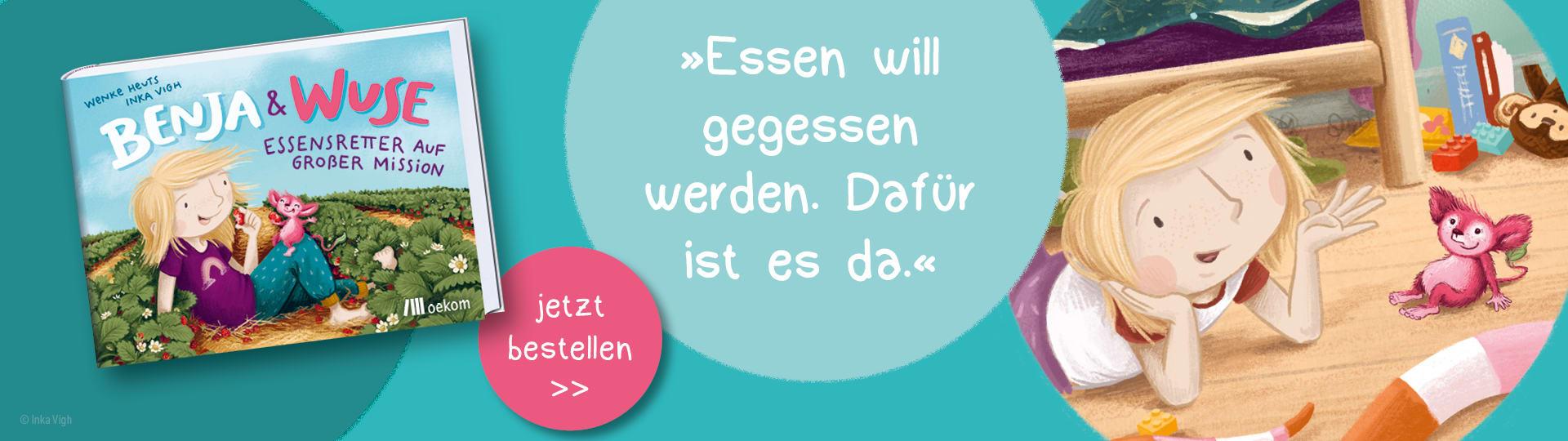 Werbebanner zum Kinderbuch »Benja & Wuse«