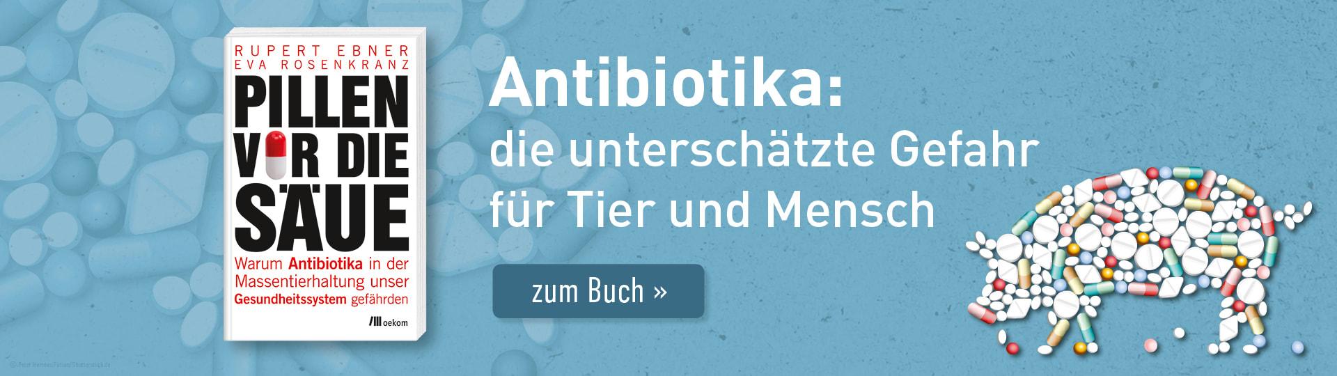 Werbebanner zum Buch »Pillen vor die Säue« von Rupert Ebner und Eva Rosenkranz