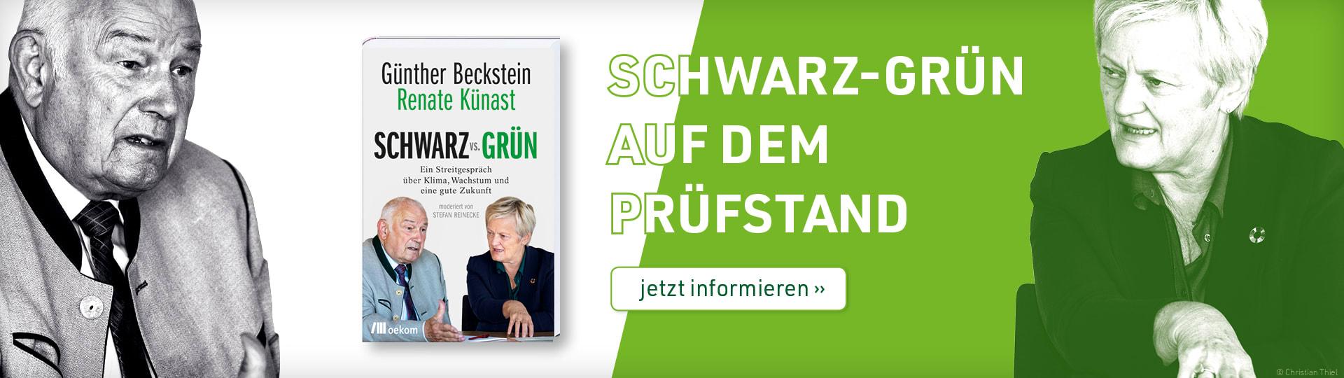Werbebanner zum Buch »SCHWARZ vs. GRÜN« von Günther Beckstein und Renate Künast