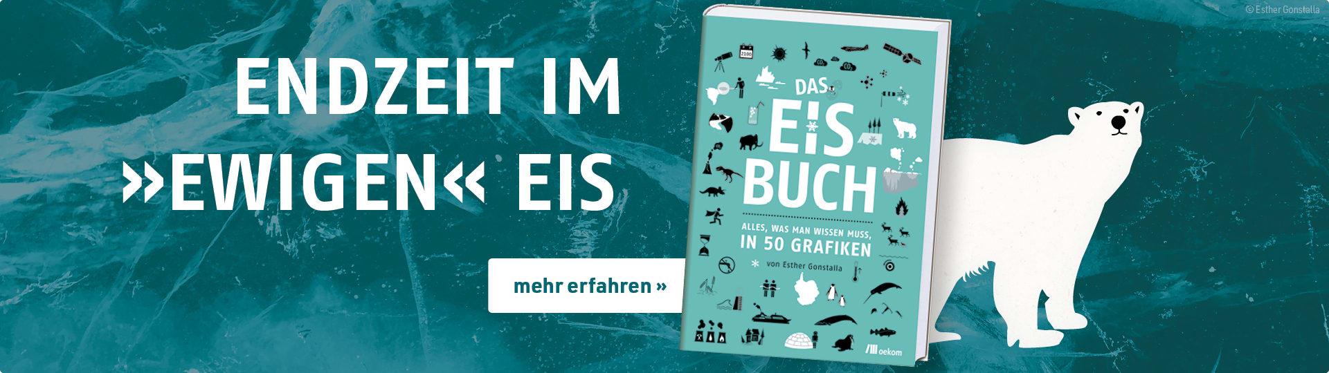 Werbebanner zum Infografikband »Das Eisbuch« von Esther Gonstalla