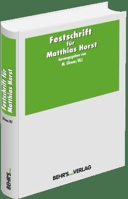 Festschrift für Matthias Horst