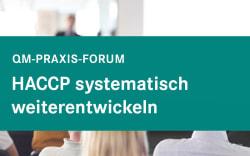 HACCP systematisch weiterentwickeln