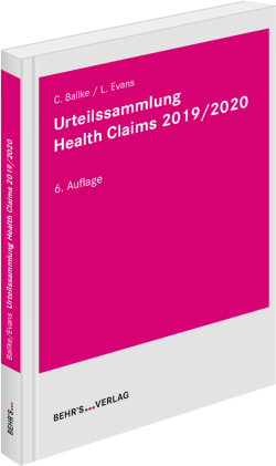 Urteilssammlung Health-Claims 2019/2020