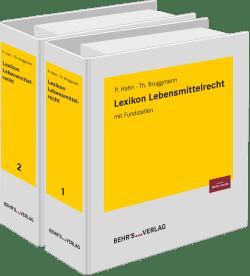 Lexikon Lebensmittelrecht mit Fundstellenliste