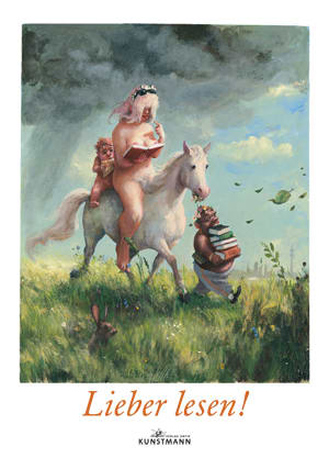 "Cover Plakat ""Lieber lesen""/Rudi Hurzlmeier"