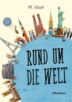 "Cover Dekoplakat Miroslav Sasek ""Rund um die Welt"""