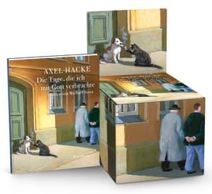 """Cover Leerbox Axel Hacke """"Die Tage, die ich mit Gott verbrachte"""""""