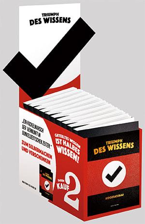 """Cover Leerbox """"Triumph des Wissens"""""""