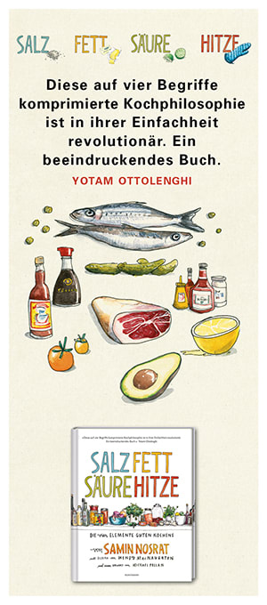 "Cover Streifenplakat Samin Nosrat ""Salz. Fett. Säure. Hitze"""
