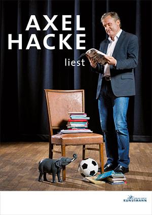"Cover Plakat ""Axel Hacke liest"""