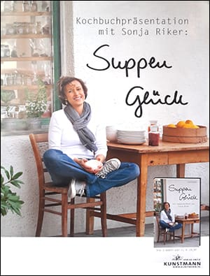 "Cover Plakat Sonja Riker ""Suppenglück"""