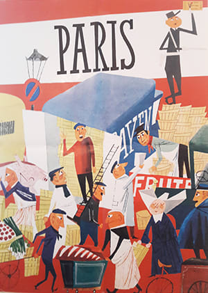 "Cover Dekoplakat Miroslav Sasek ""Paris"""