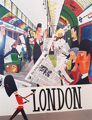 "Cover Dekoplakat Miroslav Sasek ""London"""
