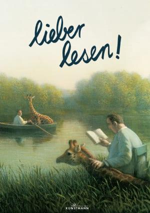 """Cover Plakat """"Lieber Lesen"""" – Hacke kleines Tierleben"""