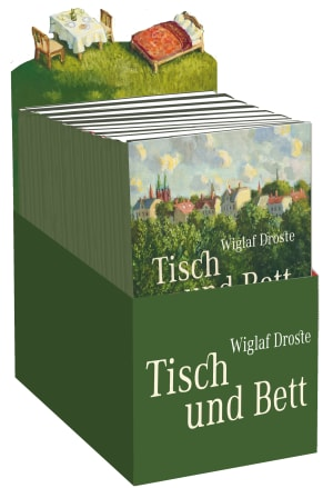 """Cover Leerbox Wiglaf Droste """"Tisch und Bett"""""""