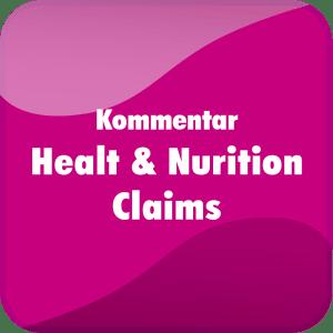 Praxiskommentar Health & Nutrition Claims