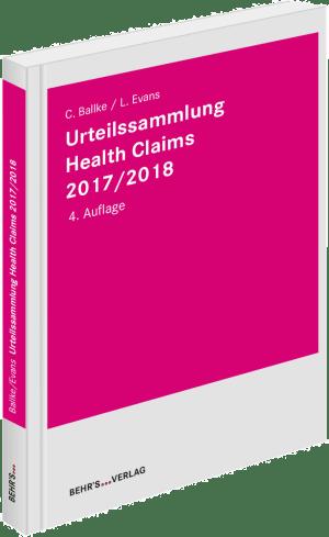 Urteilssammlung Health-Claims 2017/2018