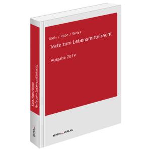 Texte zum Lebensmittelrecht 2019
