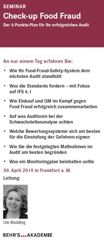 Check-up Food Fraud