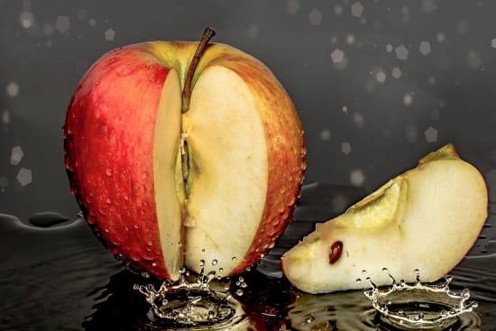 Heißwasserbehandlung bei Fresh-Cut-Äpfeln