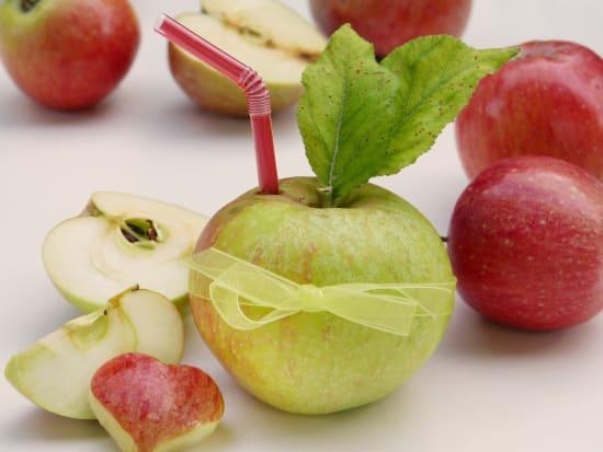 Qualität von direkt gepressten Apfelsäften