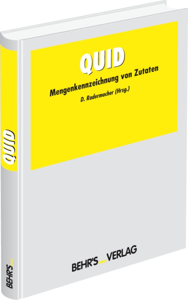 QUID - Mengenkennzeichnung von Zutaten