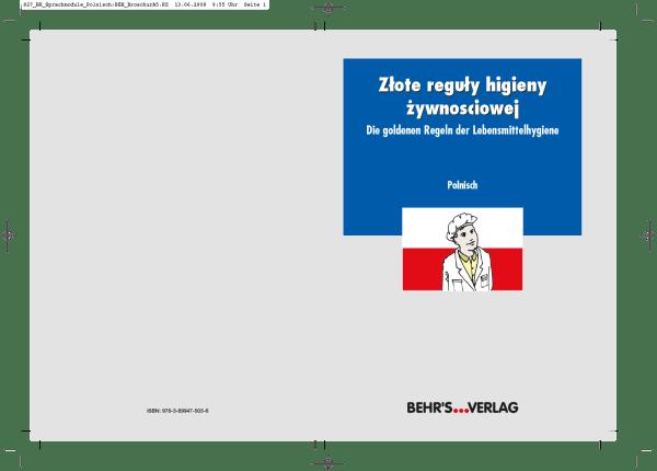 Die goldenen Regeln der Lebensmittelhygiene - polnisch