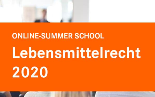 SUMMER SCHOOL Lebensmittelrecht 2020