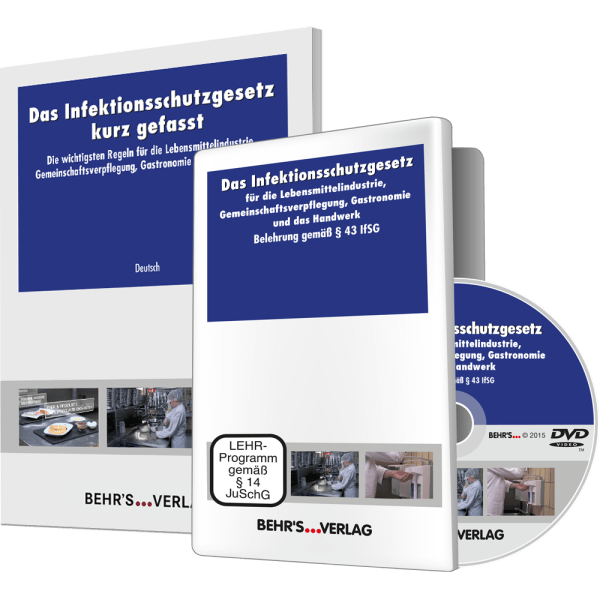 Das Infektionsschutzgesetz - deutsch (DVD) + IFSG kurz gefasst (10 Broschüren in versch. Sprachen)