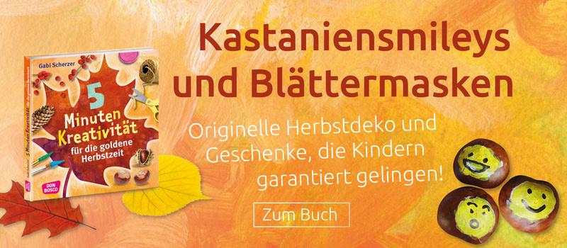Deko- und Geschenkideen für den Herbst - mit geringem Zeit- und Materialaufwand. Gelingt Kindern garantiert. Jetzt bestellen!