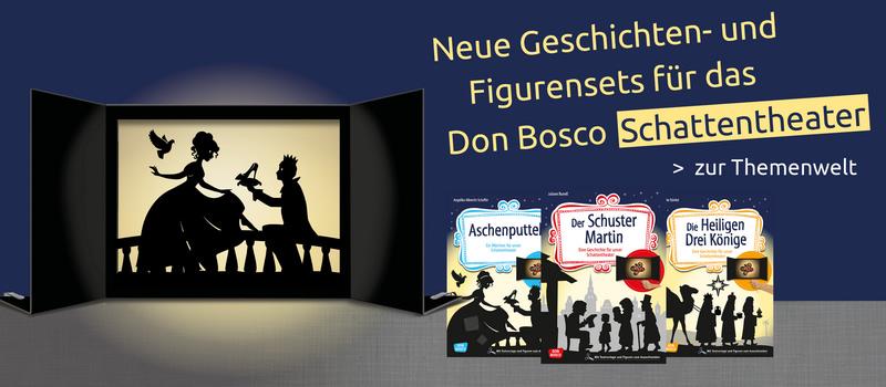 Die neuen Sets für das Schattentheater von Don Bosco sind da! Jetzt informieren.