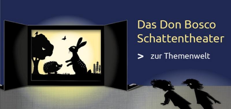 Das Don Bosco Schattentheater. Praxis- und Methodenbuch sowie Komplett-Sets mit Figuren und Geschichten hier bestellen!