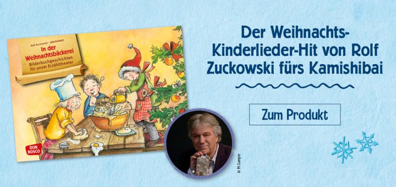 Der Weihnachts-Kinderlieder-Hit von Rolf Zuckowski als Kamishibai. Jetzt bestellen.