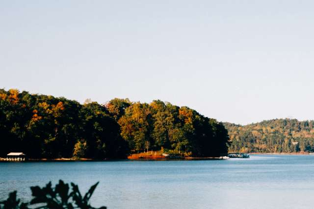 View looking out over Lake Hartwell