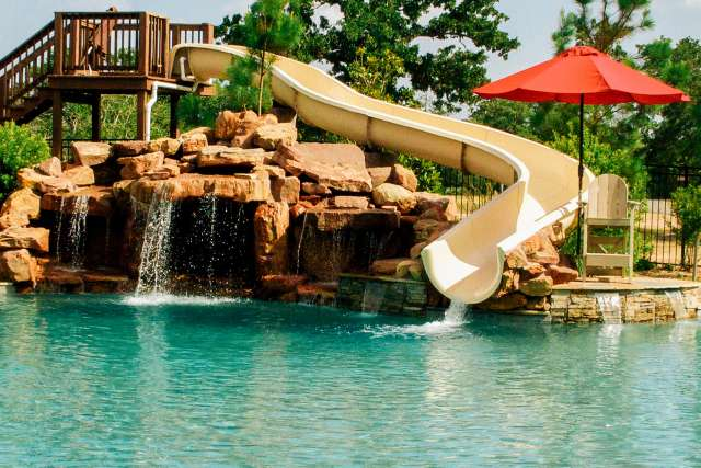 Crier Creek pool and water slide
