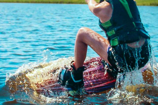 Wakeboarding at the cable wake park