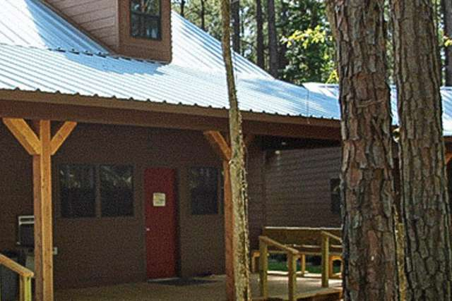 Cabin Exterior at Pine Cove Ranch in Tyler, Texas