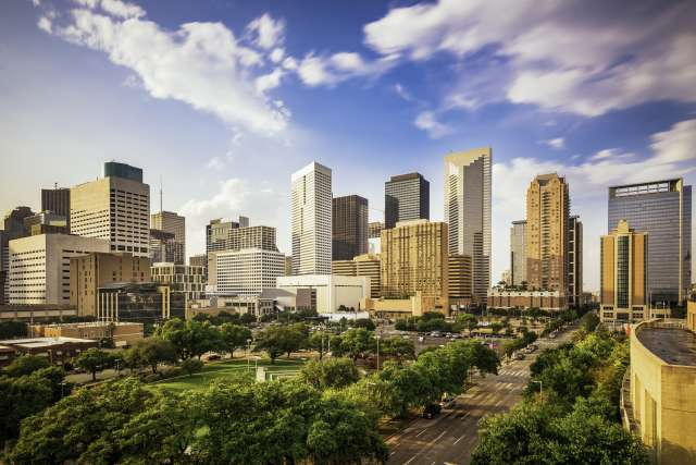 City skyline of downtown Houston