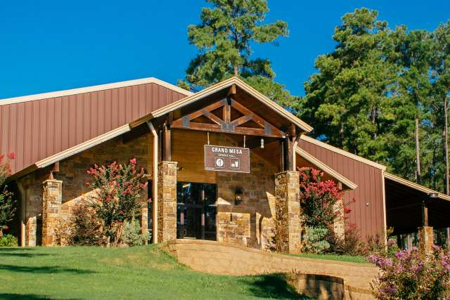 Dining Hall Exterior at Pine Cove Timbers