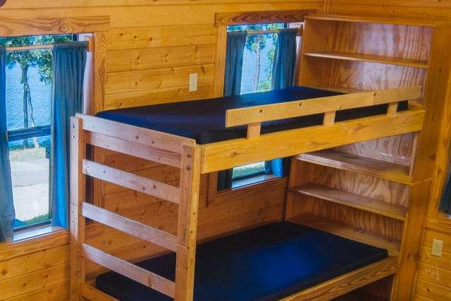 Cabin Interior at Pine Cove Shores