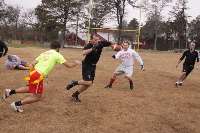Staff Playing Football