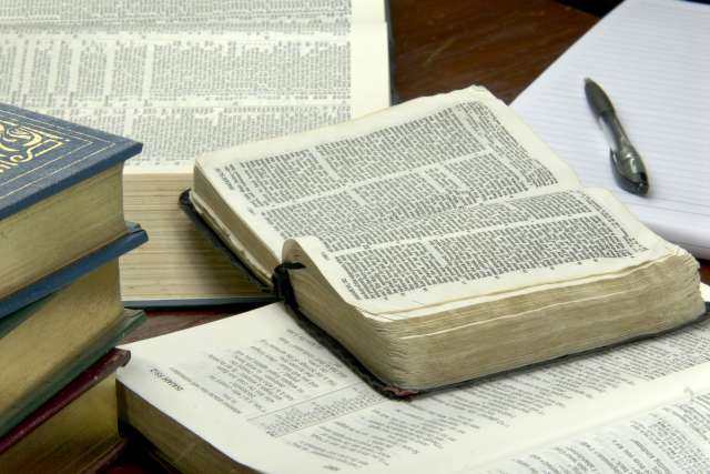 Open bible ready for studying